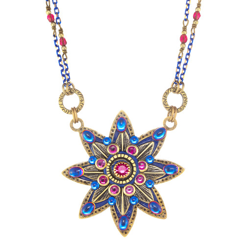 Blue Star Flower Necklace
