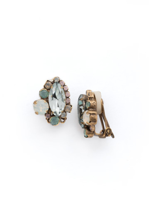 Sorrelli WASHED PASTEL Crystal CLIP Earrings
