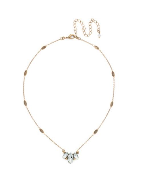 SORRELLI WASHED PASTEL Elegant Trifecta Crystal Necklace -NDN52AGWP