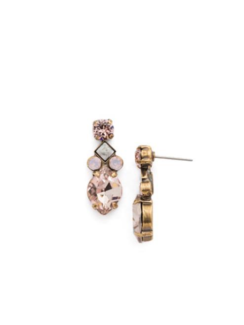 Sorrelli PINK PEONY Crystal Earrings EDN57AGPP