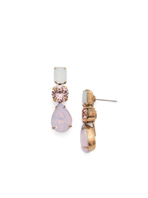 Sorrelli PINK PEONY Crystal Earrings EDN74AGPP