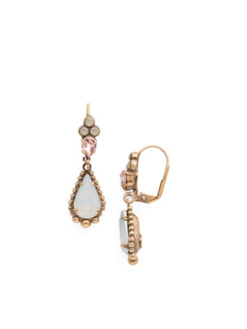 Sorrelli PINK PEONY Crystal Earrings EDN85AGPP