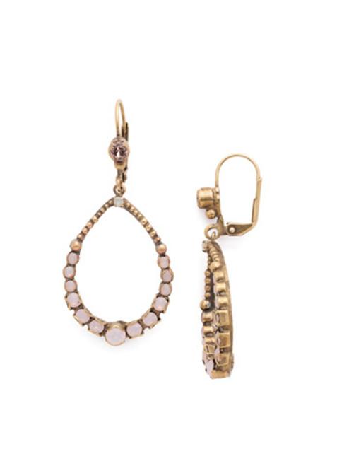 Sorrelli PINK PEONY Crystal Earrings EDN83AGPP