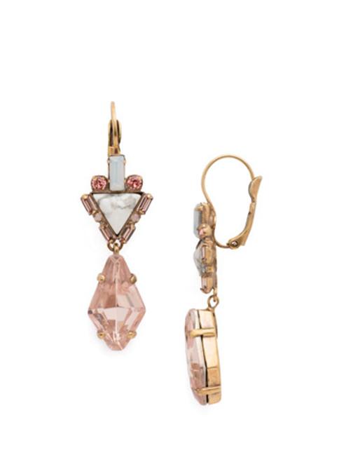 Sorrelli PINK PEONY Crystal Earrings EDN81AGPP