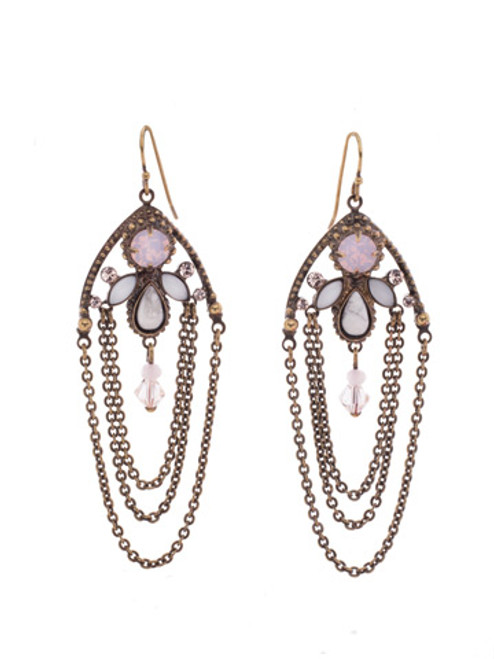 PINK PEONY Crystal Earrings by Sorrelli