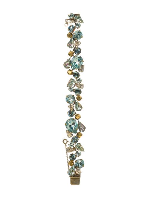 Sorrelli Afterglow- Teardrop Crystal Cluster Line Bracelet~ BCP3AGAFG