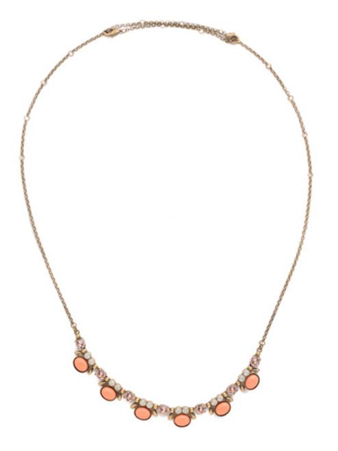 Sorrelli PINK PEONY Crystal Necklace NDN6AGPP
