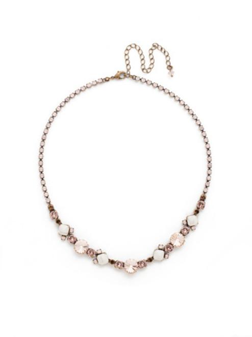 Sorrelli PINK PEONY Crystal Necklace NDH7AGPP