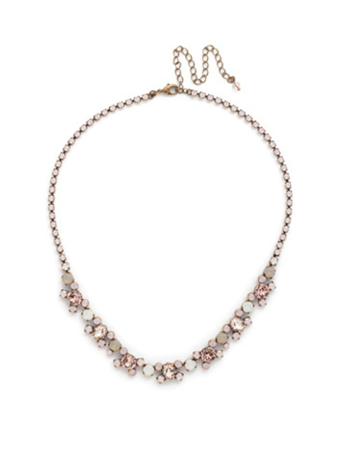 PINK PEONY Crystal Necklace by Sorrelli