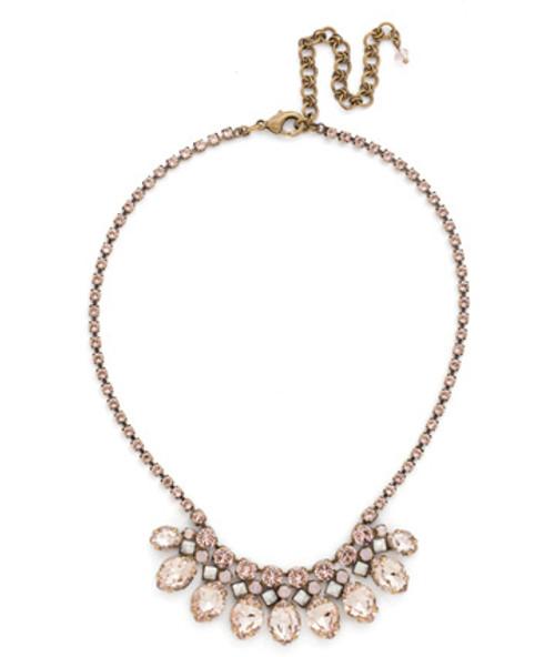 Sorrelli PINK PEONY Crystal Necklace NDN57AGPP