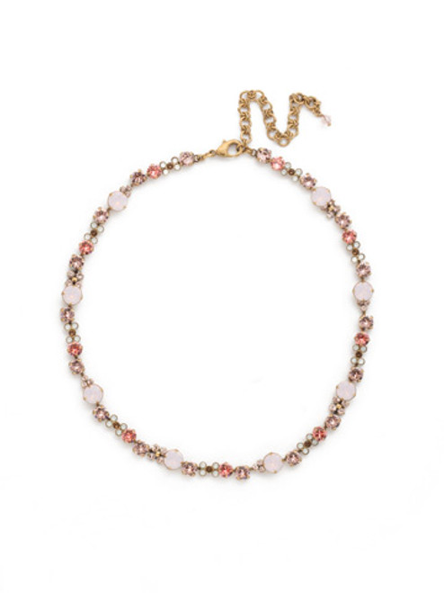 Sorrelli PINK PEONY Crystal Necklace NDK10AGPP