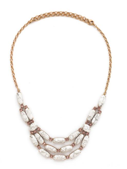 Sorrelli PINK PEONY Crystal Necklace NDN5AGPP