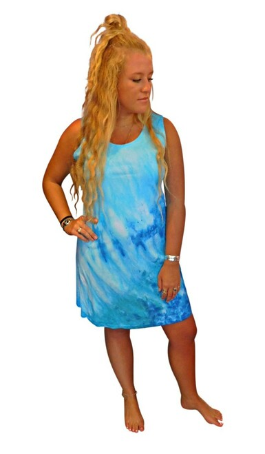 Ice Tye Dye Tank Dress by Martha~Aqua