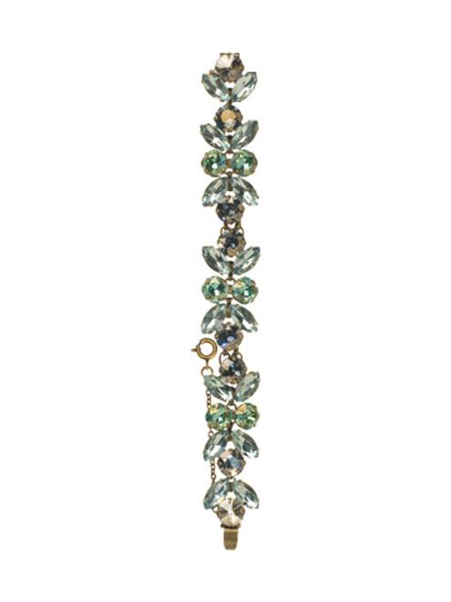 Sorrelli Afterglow- Crystal Lotus Flower Line Bracelet~ BCR1AGAFG