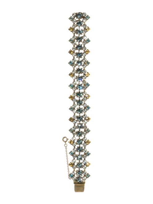 Sorrelli Afterglow- Elegant Angular Crystal Line Bracelet~ BCR6AGAFG