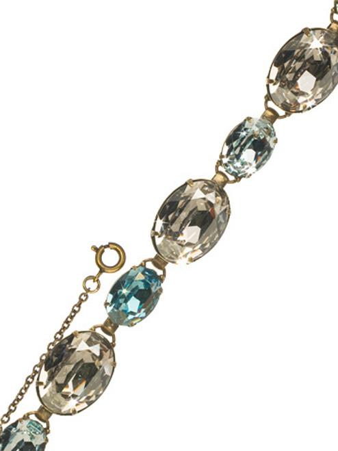 Sorrelli Afterglow- Oval Cut Crystal Line Bracelet~ BCR20AGAFG