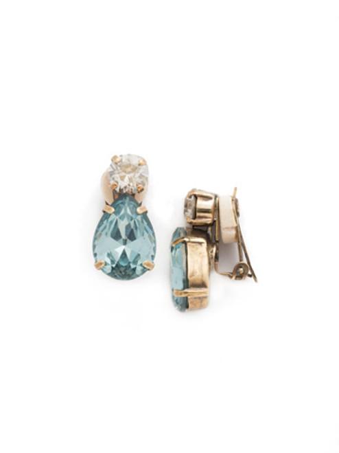 MIST Crystal Clip Earrings