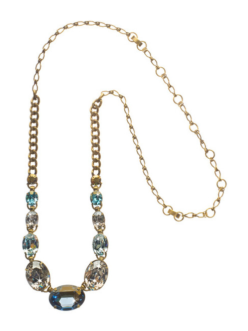 Sorrelli Afterglow- Oval Cut Crystal Long Strand Necklace~ NCR20AGAFG