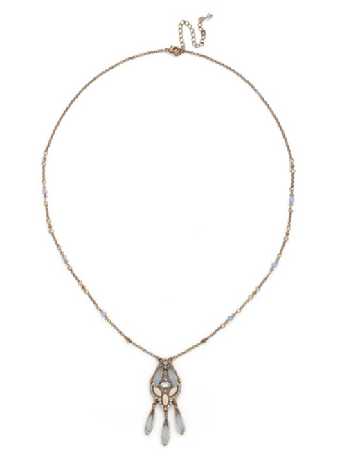 SORRELLI COASTAL MIST Crystal Necklace NDN99AGCMI