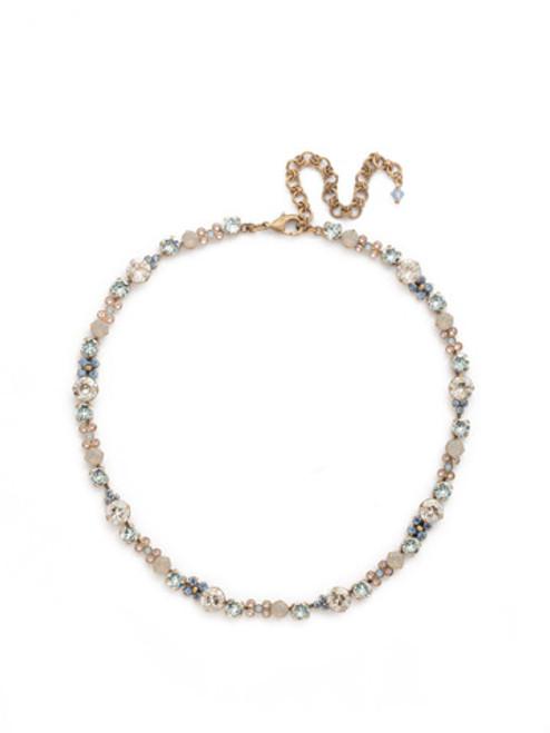 COASTAL MIST Crystal Necklace