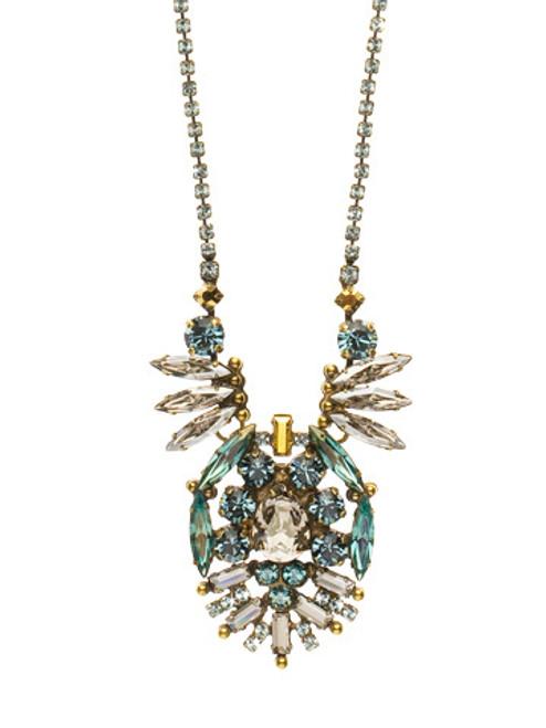 Sorrelli Afterglow- Dazzling Deco Crystal Statement Pendant Necklace~ NCR10AGAFG