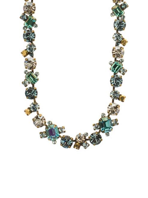 Sorrelli Afterglow- Glittering Multi-Cut Crystal Necklace~ NCF6AGAFG