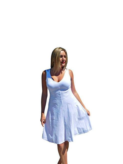 Luna Luz  White Sun Dress~L554