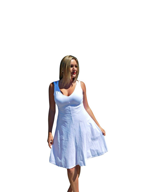 Luna Luz White Sun Dress L554