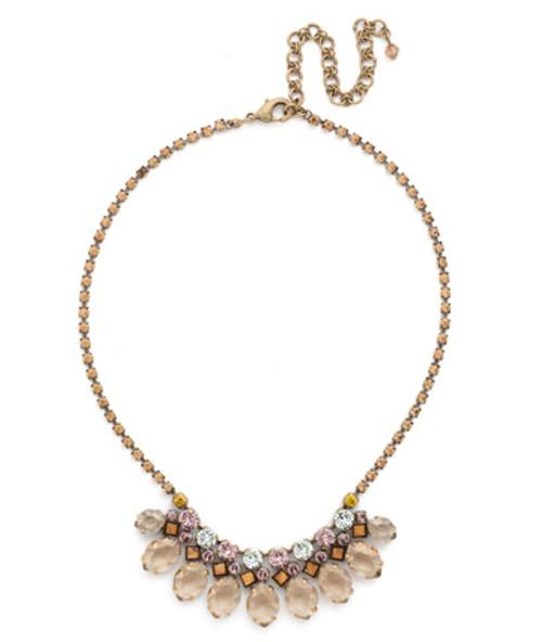 Sorrelli Rustic Bloom Crystal Necklace NDN57AGRB