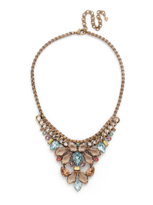 Sorrelli Rustic Blue Crystal Necklace