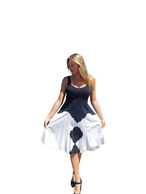 Luna Luz  Sun Dress~H409~Black & White