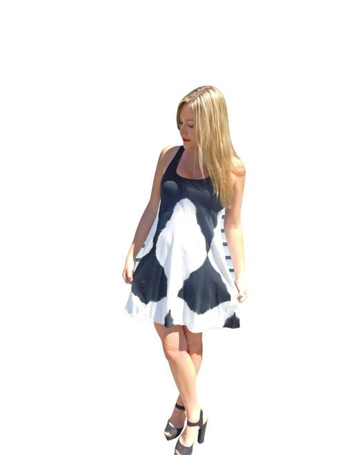 Luna Luz  Tunic Dress~H452~Black & White