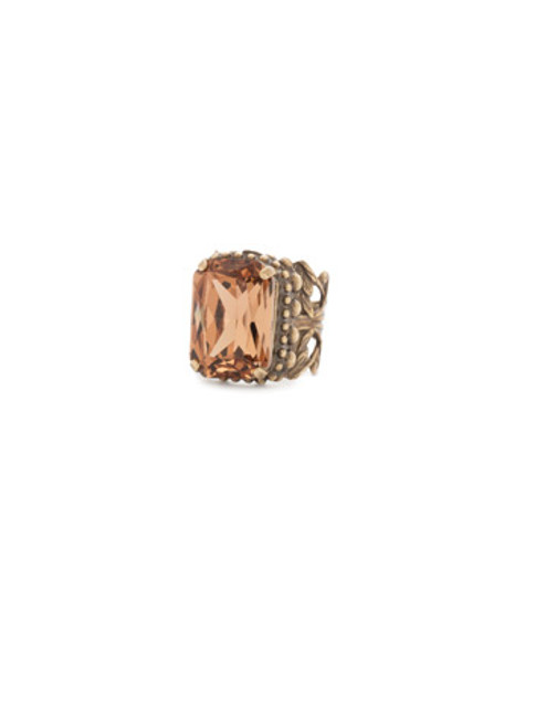 **SPECIAL ORDER**Sorrelli Rustic Bloom Crystal Ring~RDG32AGRB
