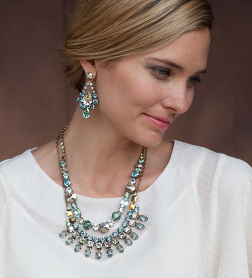 Sorrelli Afterglow- Belle of the Ball Bib Necklace~ NCQ1AGAFG  ( featured with other pieces from the Afterglow Collection)
