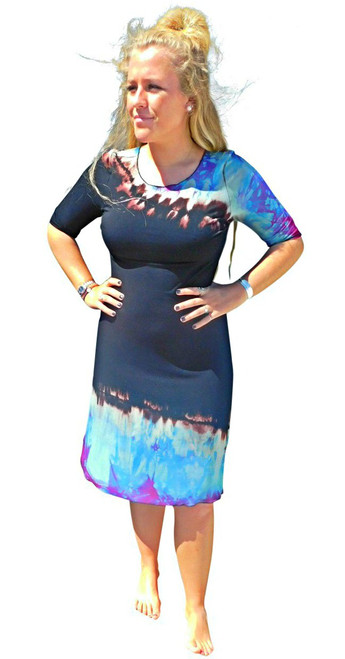 Hawaiian Cocktail Dress by Moontide Dyers