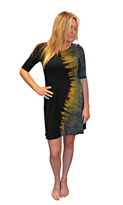 Foghorn Ying Yang Dress  by Moontide Dyers