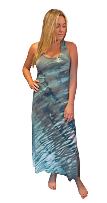 Neptune  Wave  Bamboo  Dress by Moontide Dyers