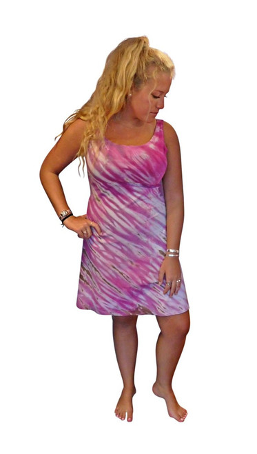 Raspberry Wave  Bamboo  Dress by Moontide Dyers