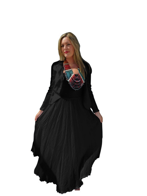 Luna Luz Black Linen Jacket 726