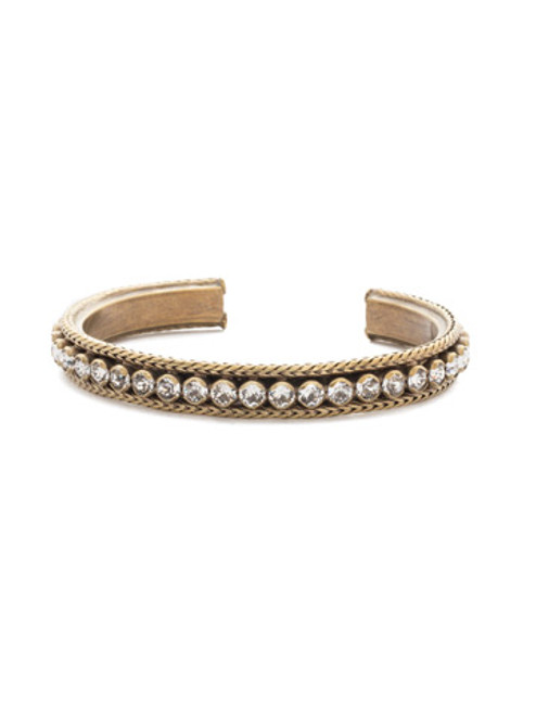 Sorrelli Crystal Collection- Channeling Chic Cuff Bracelet~ BDM6AGCRY