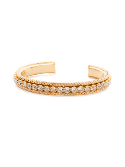 Sorrelli Crystal Collection- Channeling Chic Cuff Bracelet~ BDM6BGCRY