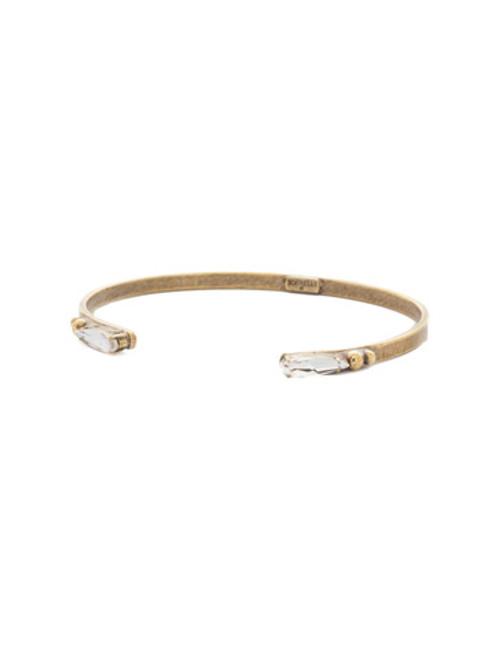**SPECIAL ORDER**ANTIQUE GOLD CRYSTAL Cuff Bracelet by Sorrelli~BDH8AGCRY