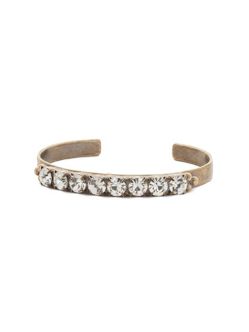 special order antique gold crystal cuff bracelet by sorrelli bdg8agcry