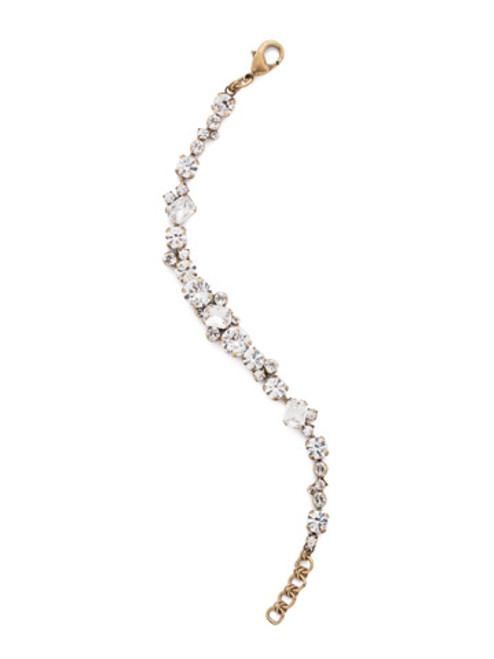 ANTIQUE GOLD CRYSTAL Bracelet by Sorrelli BDG46AGCRY