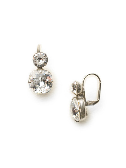ANTIQUE SILVER CRYSTAL Earrings by Sorrelli ECL4ASCRY