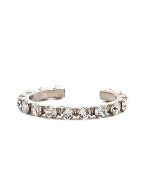ANTIQUE SILVER CRYSTAL Cuff Bracelet by Sorrelli BCL23ASCRY