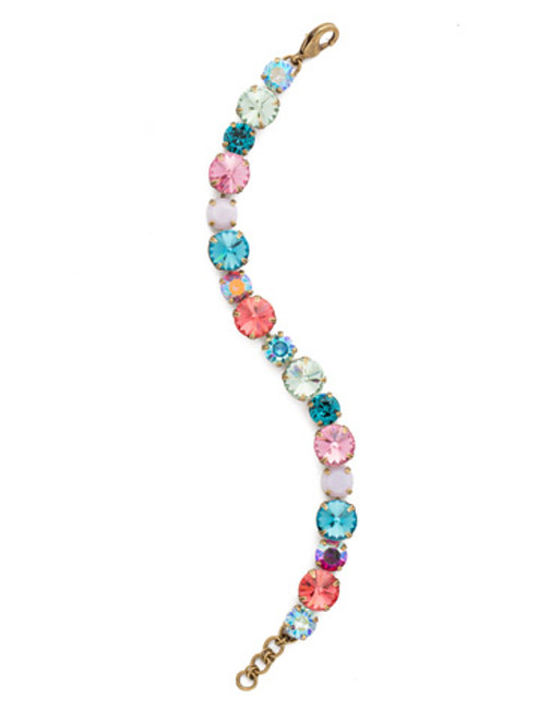 Sorrelli Happy Birthday Crystal Bracelet bcr18aghb