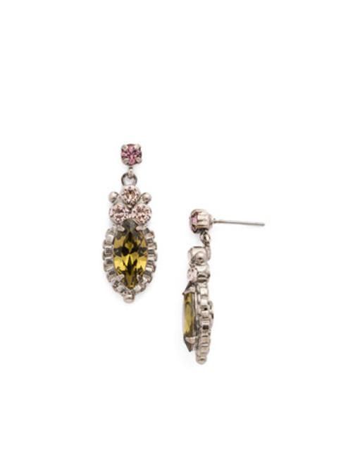 ARMY GIRL-Noble Navette Drop Earrings by Sorrelli~ EDN10ASAG
