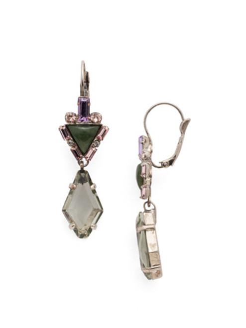ARMY GIRL-Tribal Rhombus Crystal Earrings by Sorrelli~ EDN81ASAG