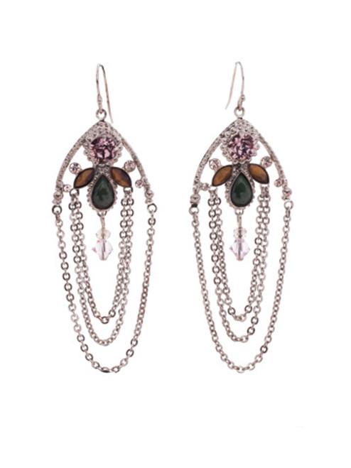 ARMY GIRL-Charming Chain Crystal Earrings by Sorrelli~ EDN101ASAG